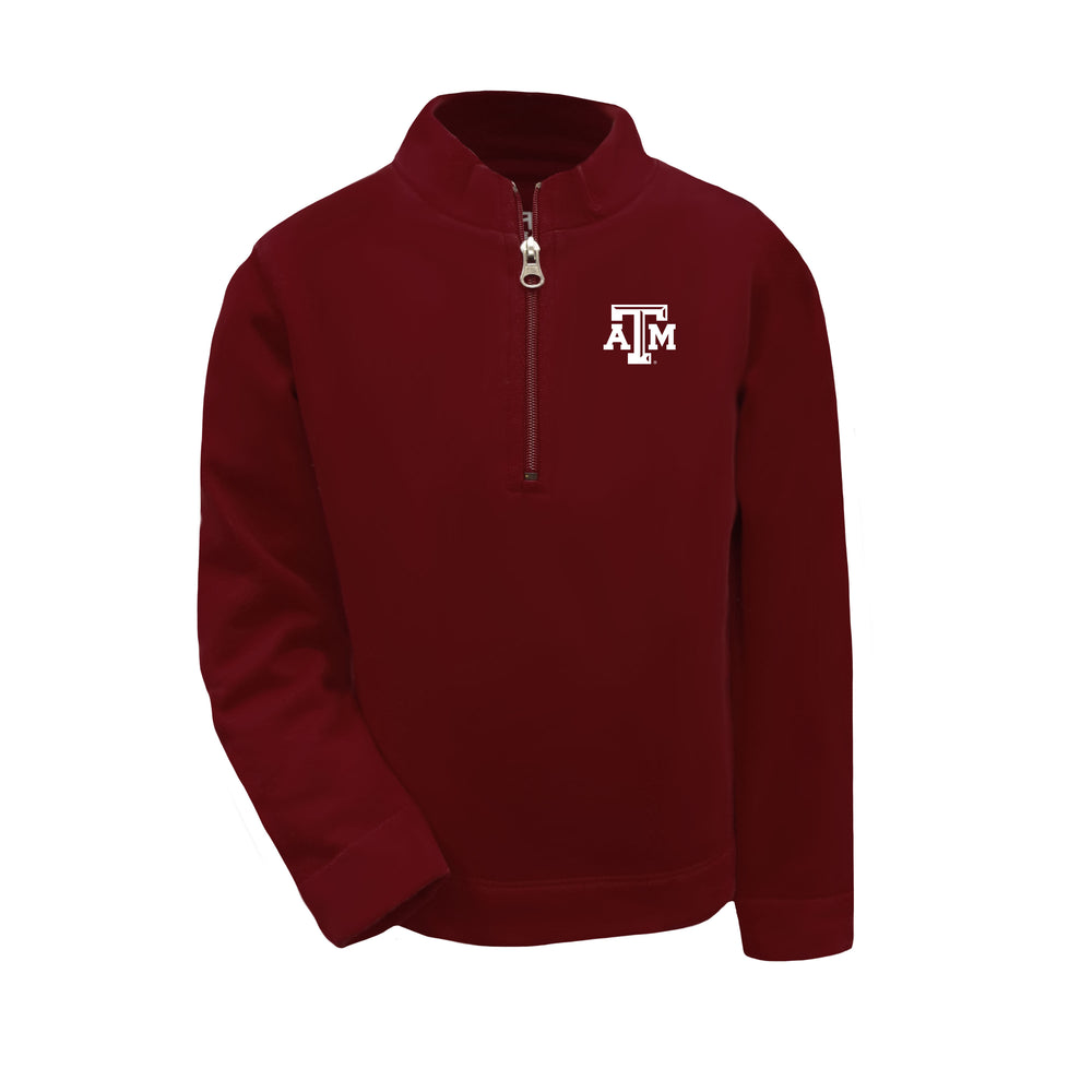 Texas A&M Aggies Youth & Toddler Boys 1/4 Zip Sweatshirt Pullover - Maroon