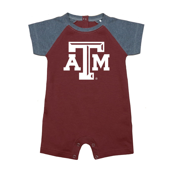 Texas A&M Aggies Tide Newborn Baseball Star Bodysuit - Maroon/Gray