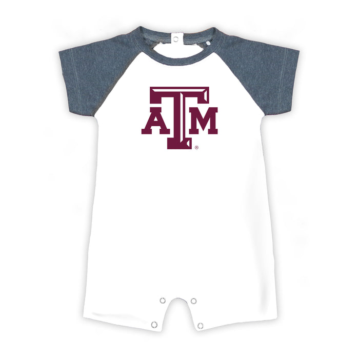 Texas A&M Aggies Tide Newborn Baseball Star Bodysuit - White/Gray
