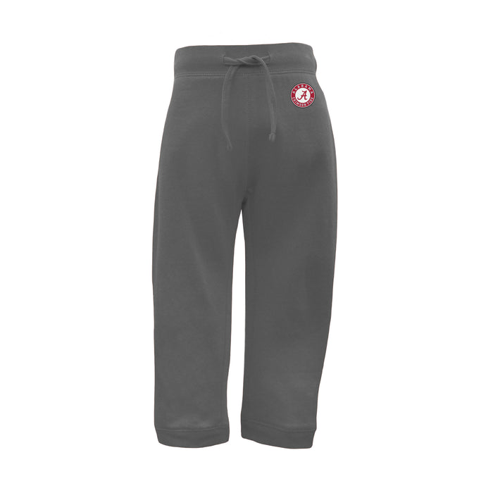Alabama Crimson Tide Toddler Cotton Blend Drawstring Sweatpants - Charcoal