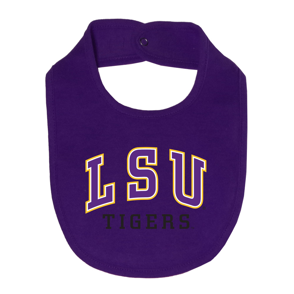 LSU Tigers 100% Cotton Infant Lil' Fan All Pro Baby Bib - Purple