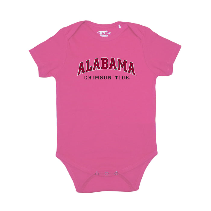 Alabama Crimson Tide Newborn & Infant Arched Block Bodysuit - Pink
