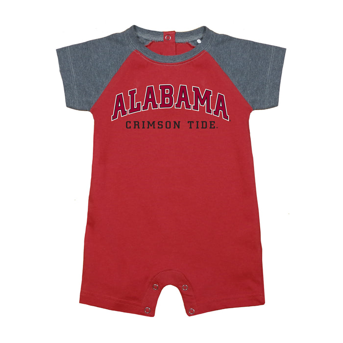 Alabama Crimson Tide Newborn Baseball Star Bodysuit - Crimson Red/Gray