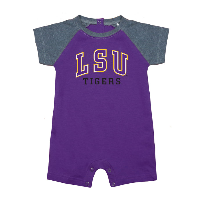 LSU Tigers Newborn Baseball Star Bodysuit - Purple/Gray