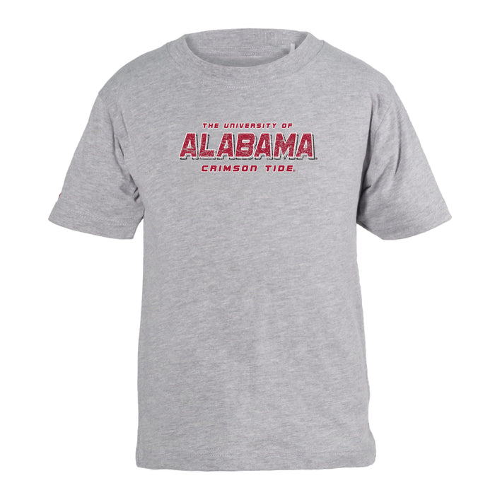 University of Alabama Crimson Tide Unisex Kids 100% Cotton Crew Neck T-Shirt - Crimson