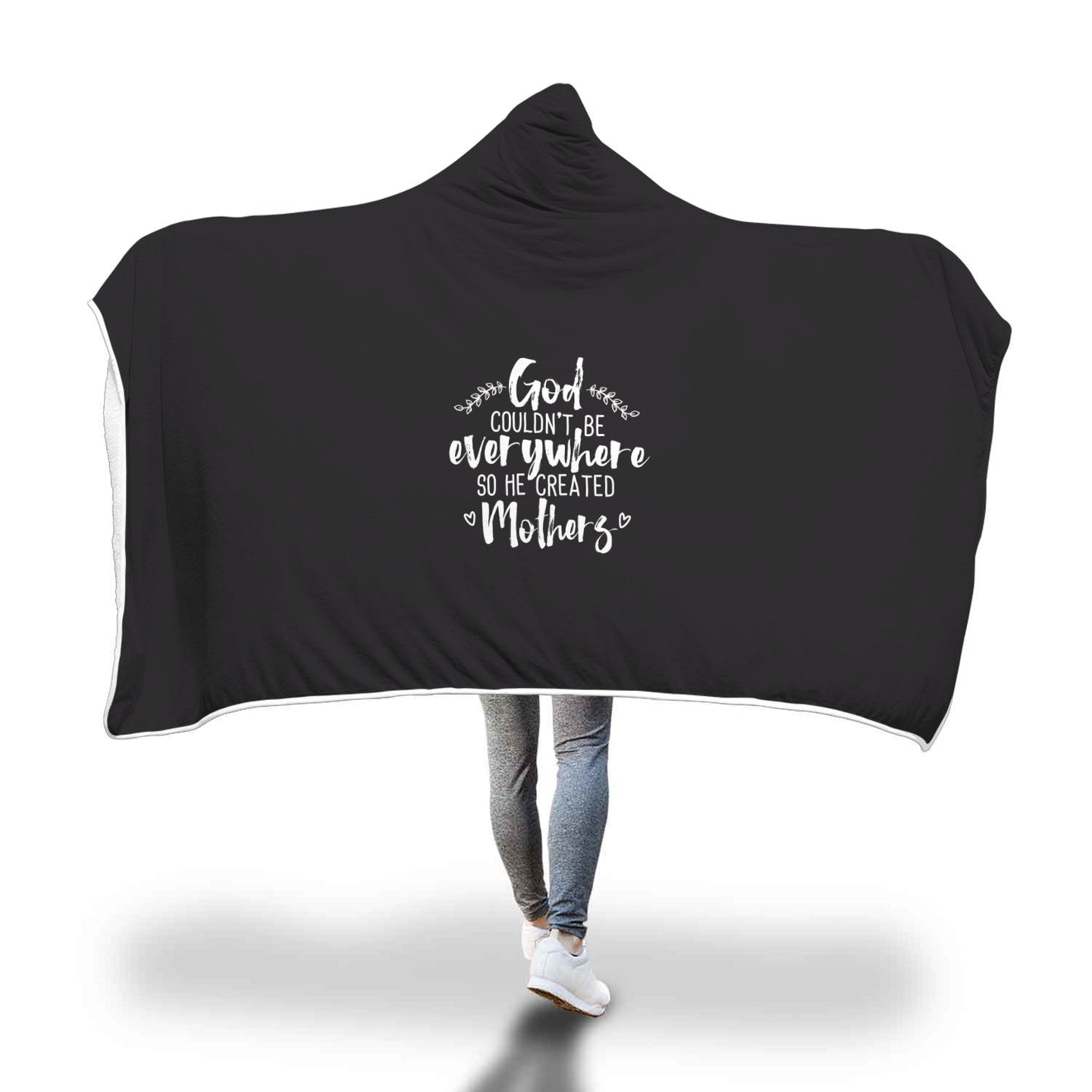 Cobija con gorro God created mothers