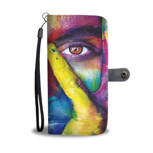 Cartera para Telefono Celular Girl Splash Colors