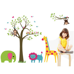 Owl and Giraffe Decal Stickers