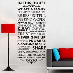 House Rules Decal/Vinyl Sticker
