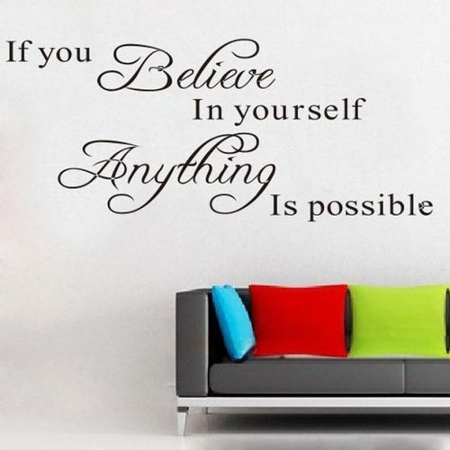Believe Anything is Possible Inspirational Wall Sticker/Decal