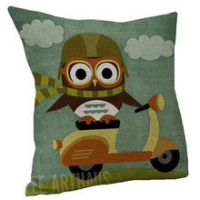 Cute Owl Pillow Cover