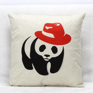Panda Print Pillow Case Sofa Waist Throw Cushion Cover Home Decor