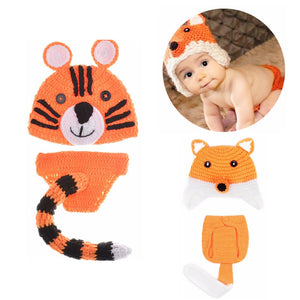 Handmade Tiger Knitted Baby Suit