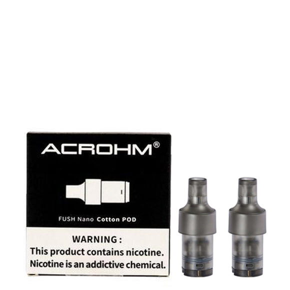 Acrohm Fush Nano Replacement Pod Cartridges (Pack of 2)