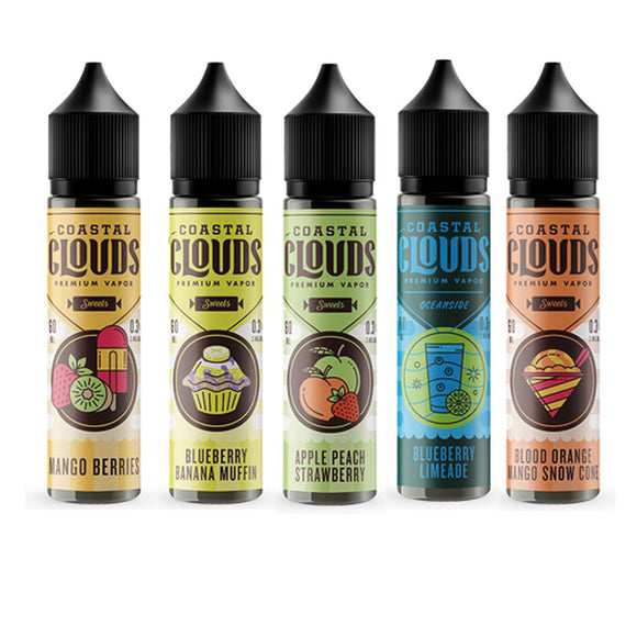 Coastal Clouds Collection 60ml E- Liquid
