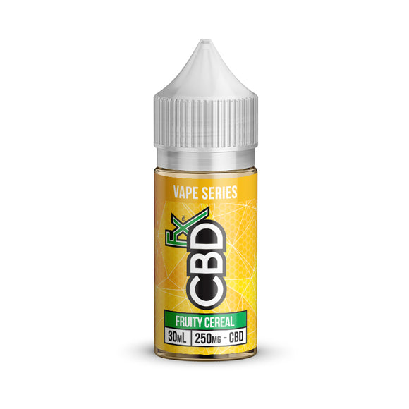 CBDfx Vape Juice Collection Fruity Cereal 30ml E-liquid 250mg