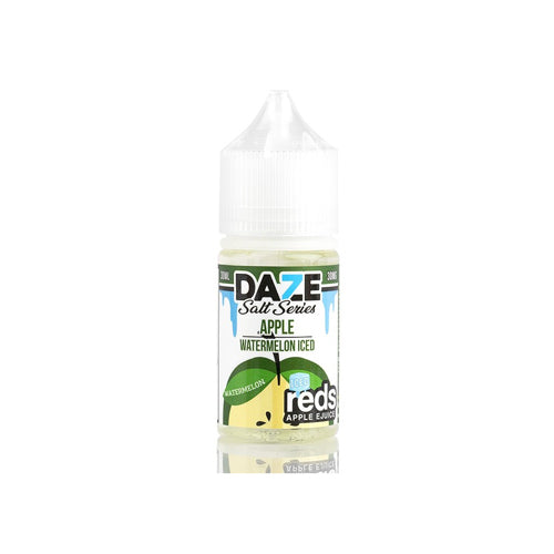 Red's Salts Watermelon ICED 30ml Nic Salt E-Liquid by 7 Daze