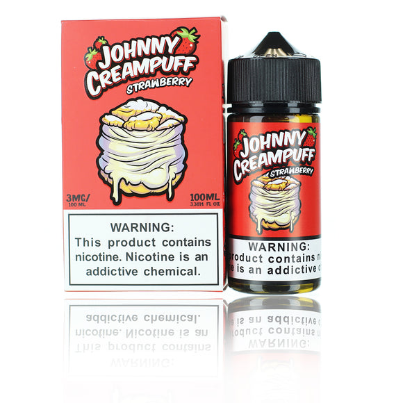 Johnny Creampuff Collection Strawberry 100ml E-liquid by Tinted Brew
