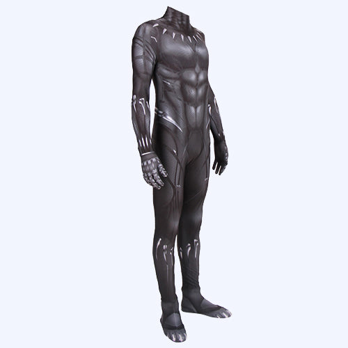 Black Panther T'Challa hero cosplay bodysuit