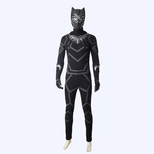 Black Panther T Challa hero cosplay costumes Superhero Halloween men jumpsuit