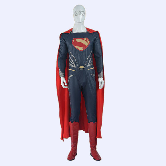 Batman Man of Steel superhero cosplay costume jumpsuit