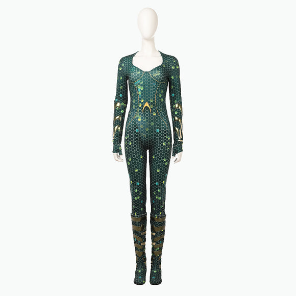 Aquaman Mera cosplay costume jumpsuit Halloween costume woman suit bodysuit superheroine