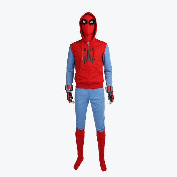 Spider Man Homecoming Peter spidey suit cosplay costume Halloween spiderman jumpsuit