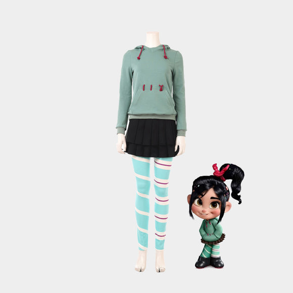 Wreck It Ralph Vanellope cosplay costume Halloween