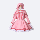 Card Captor Sakura cosplay costume pinnk dress