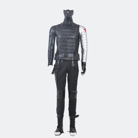 Captain America 2  Bucky Barnes winter soldier cosplay costume Halloween men suit
