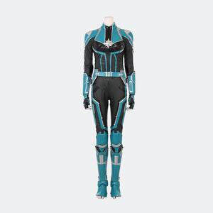 Captain Marvel Carol Danvers cosplay costume blue