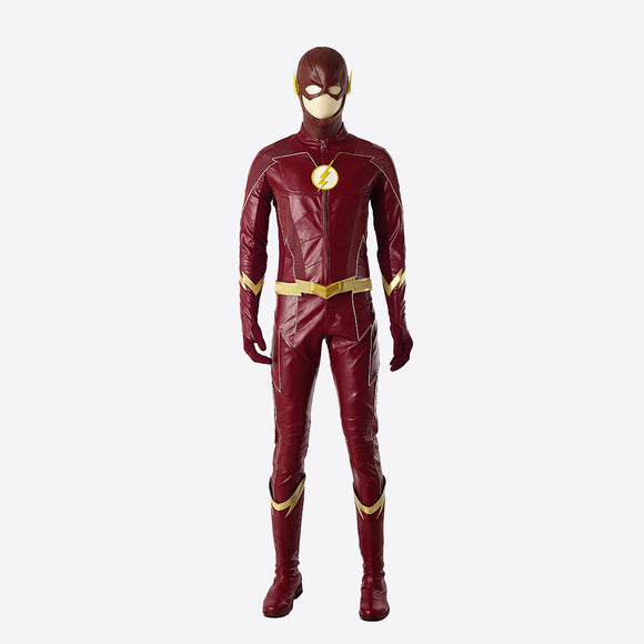 The Flash Barry Allen cosplay costume Halloween jumpsuit