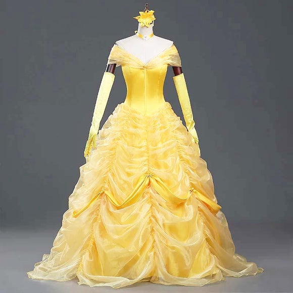 Beauty and The Beast Belle cosplay party dress