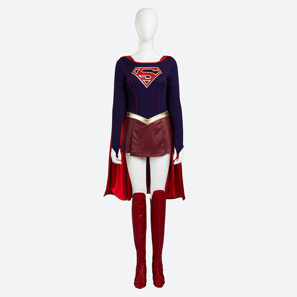 Supergirl cosplay costume superheroine women girl jumpsuit Halloween Marvel cosplay