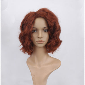 Avengers black widow wig cosplay accessory