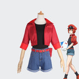 Cells at Work! Red Blood Cell Sekkekkyu cosplay costume outfit Halloween party