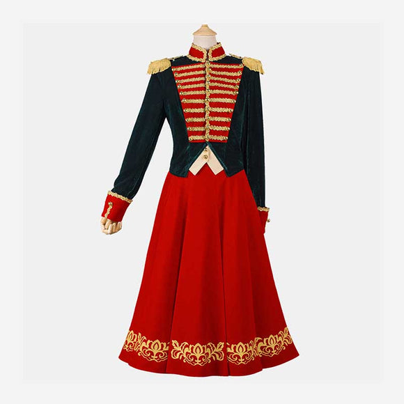 The Nutcracker And The Four Realms Clara Stahlbaum Army Uniform Costume