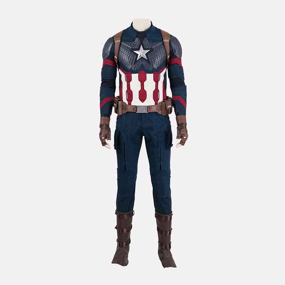 Avengers 4 Captain America cosplay costume