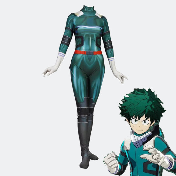 My Hero Academia Deku 3D printing bodysuit cosplay costume Halloween