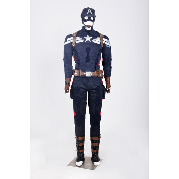 Captain America 2 Steve Rogers cosplay costume