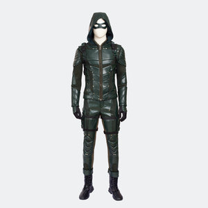 Green Arrow Season 5 Oliver Queen cosplay costume Halloween outfit