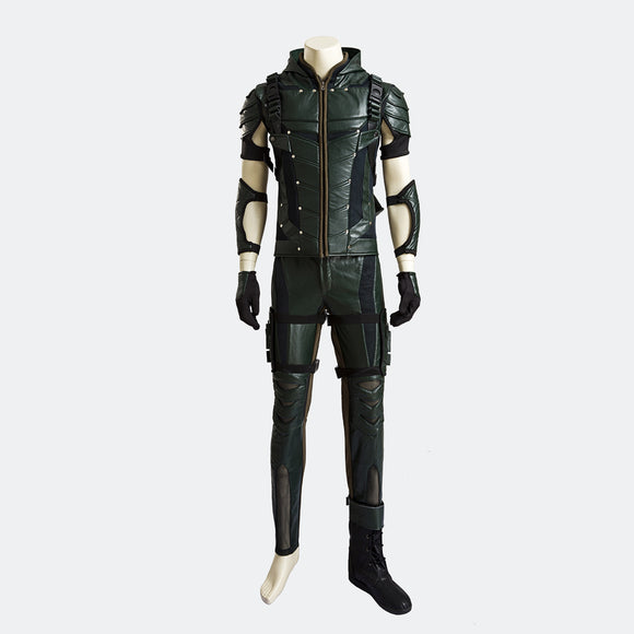 Green Arrow Season 4 Oliver Queen cosplay costume Halloween costume