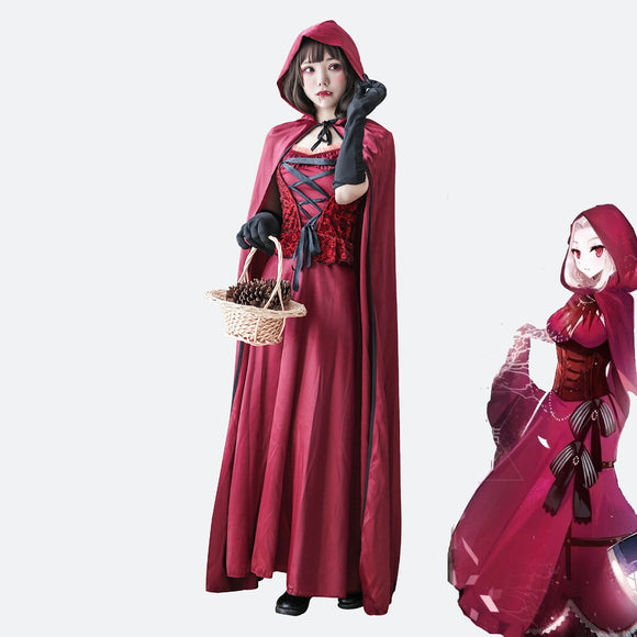 Red Riding Hood Vampire cosplay costume Halloween dress