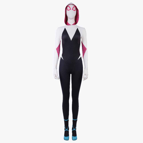 Spiderman Gwen Stacy cosplay bodysuit/jumpsuit for women Halloween costume