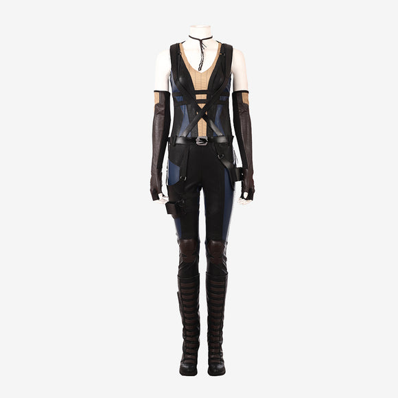 Deadpool 2 Domino cosplay costume Halloween women