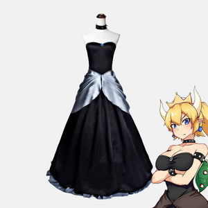 Super Mario Princess Bowsette costume game cosplay dress Halloween party