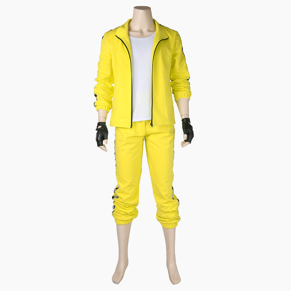 Playerunknown's Battlegrounds Chigusa Takako cosplay costume yellow suit sportwear