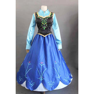 Frozen Anna Princess costume cosplay dress for Halloween and party
