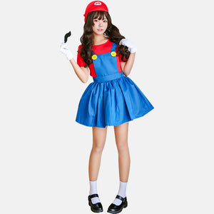 Mario cosplay dress costume green/red
