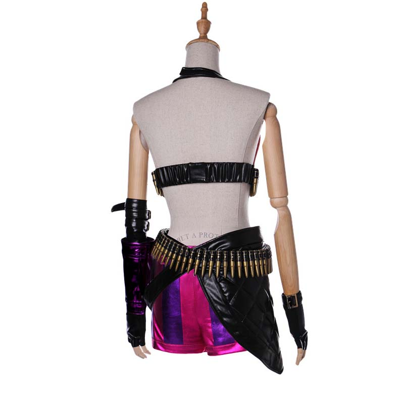 League of Legends Loose Cannon Jinx Sexy Cosplay Costume ...   Jinx League Of Legends Outfit